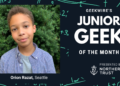 Junior Geek of the Month: Orion Razat wrote the book on STEM jokes, and has whale of a new idea